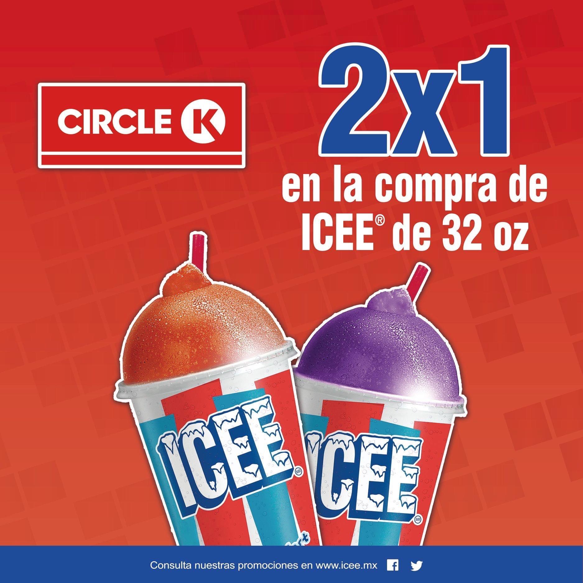 Circle K: 2x1 en ICEE de 32 Oz