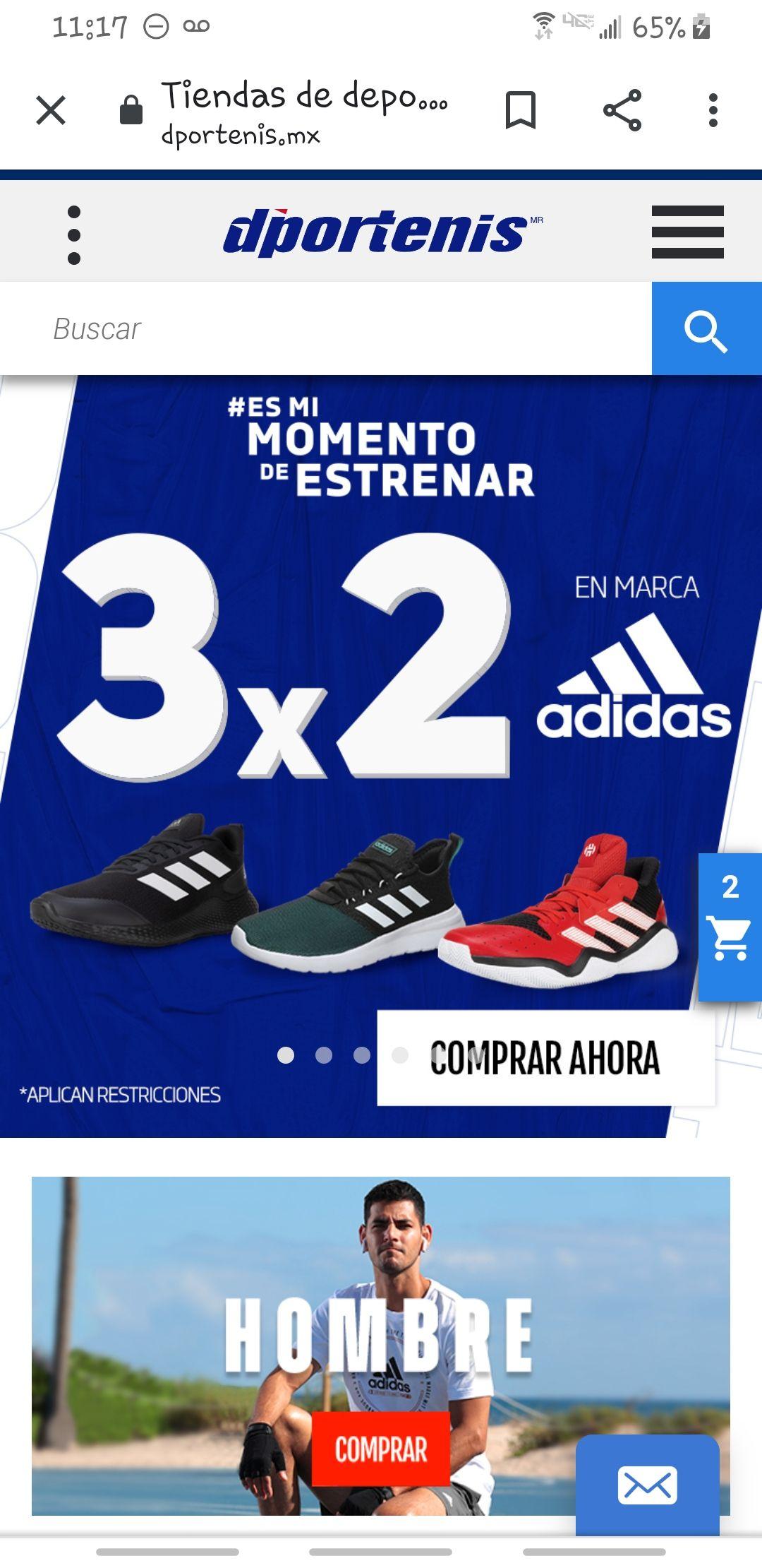 Dportenis: Marca Adidas 3X2