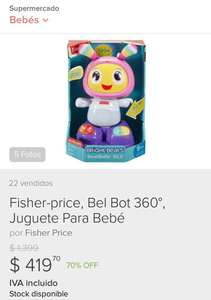 Mercado Libre: Belbot rosa fisher price