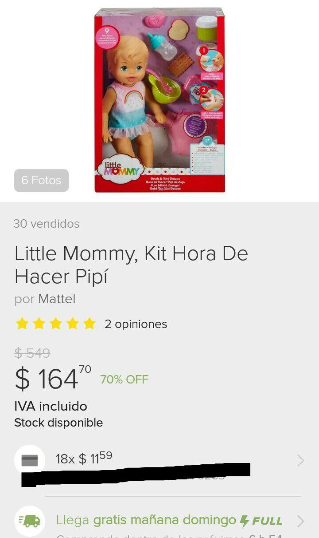 Tienda Oficial Mattel en Mercado Libre: Muy little mommy kit hora de hacer pipi