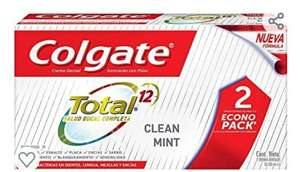 Amazon: Colgate Pasta Dental Total Clean Mint Multibeneficios, 100 ml, 2 Piezas
