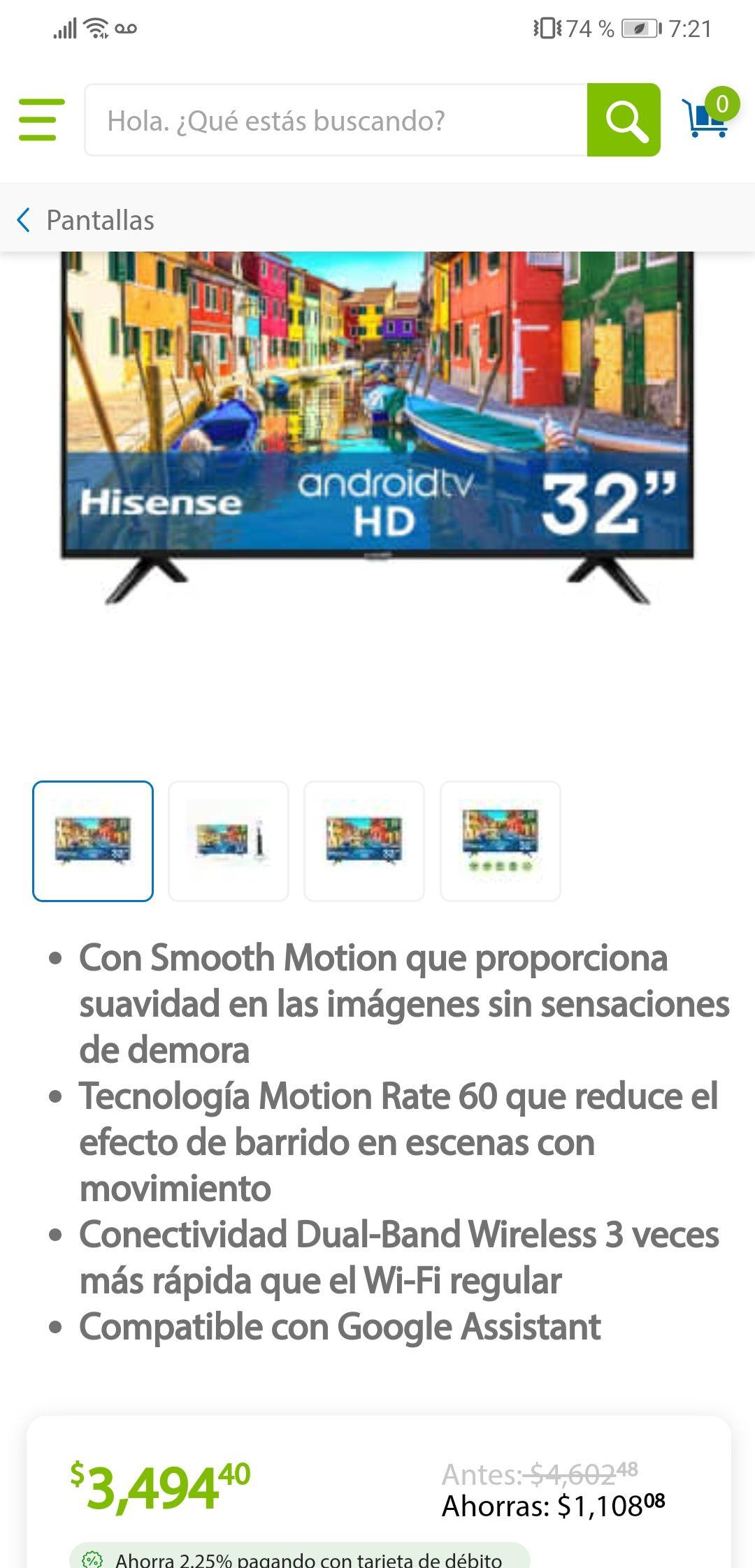 "Sams Club: Hisense android tv 32"""