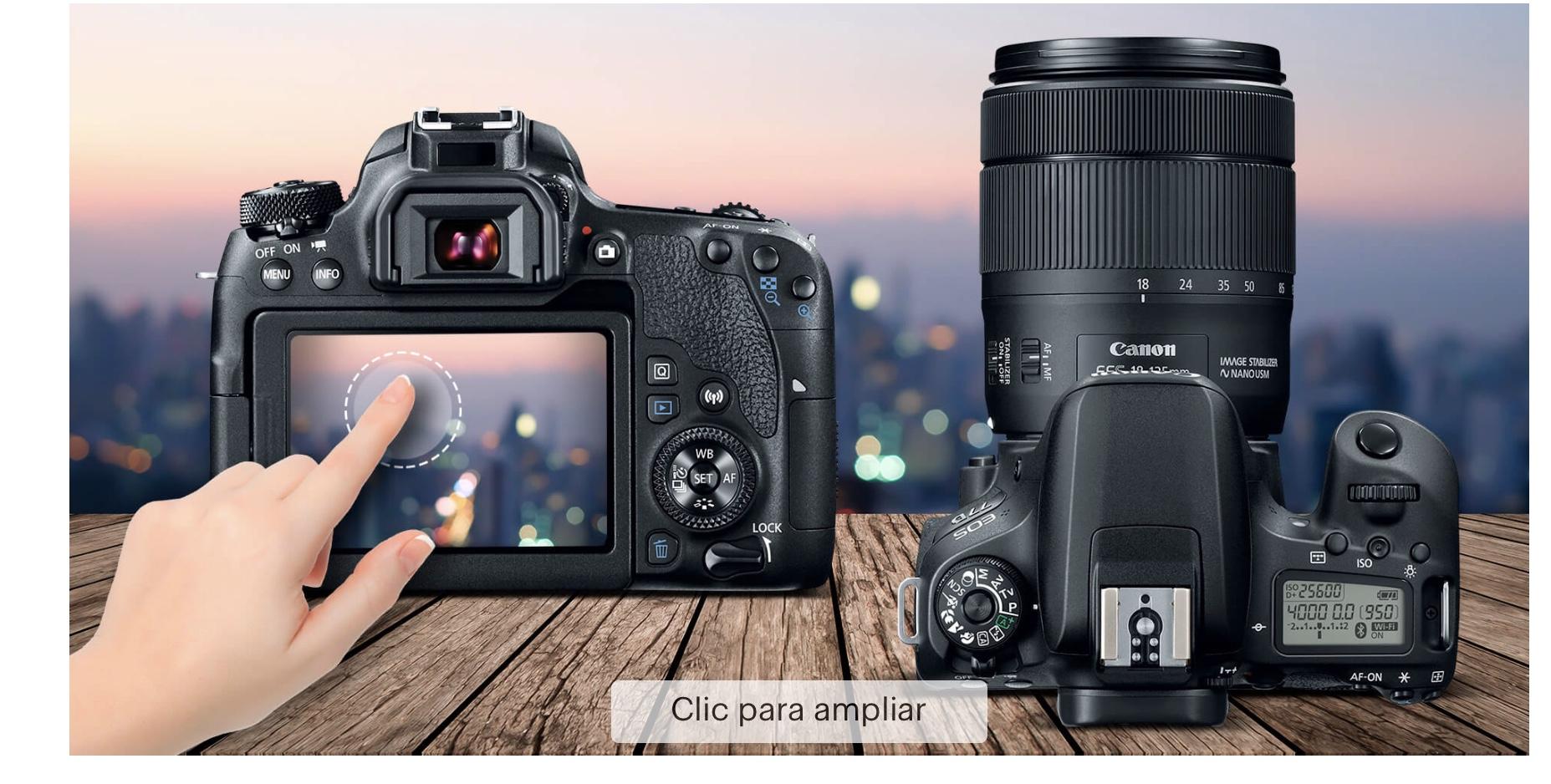 Best Buy: Canon – Cámara EOS 77D EF-S 18-135mm IS USM – Negro
