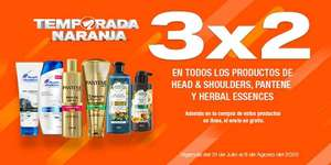 La Comer: Envío gratis en la compra de 3 x 2 en todos los productos de Head & Shoulders, Pantene y Herbal Essences