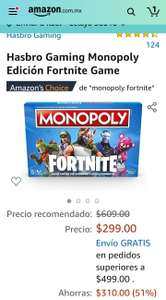 Amazon: jenga y Monopoly Fortnite