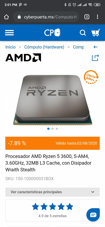 Cyberpuerta: Procesador AMD Ryzen 5 3600