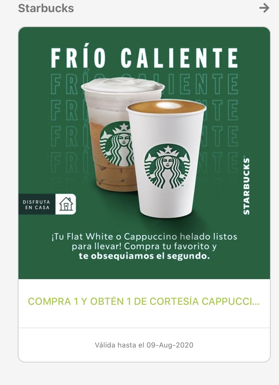 ALSEA: 2x1 Starbucks en bebidas Flat White o Cappuccino
