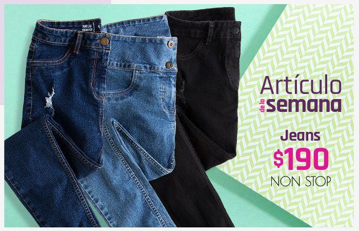 Suburbia: Artículo de la Semana del 3 al 9 Agosto: Jeans dama Non Stop $190 (modelos cintura media, levanta pompas y destrucciones)