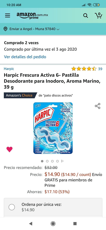 Amazon: Harpic frescura Activa
