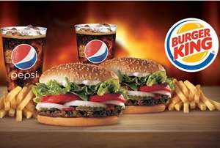 2 combos Whopper en Burger King por $66 (DF)