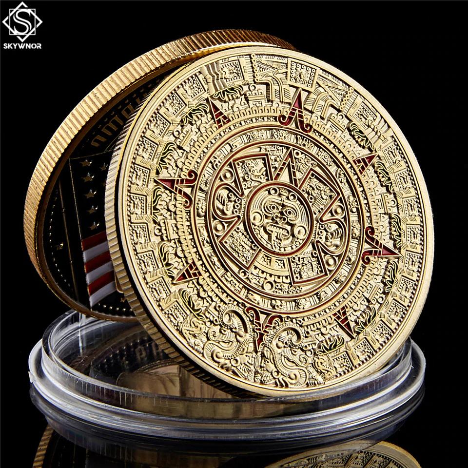 Aliexpress: Moneda conmemorativa calendario Azteca $.23 ya con envío