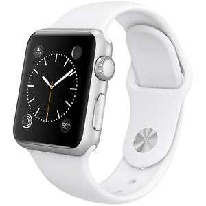 Ebay: Apple Watch Sport de 38MM de Apple Estuche de Aluminio Plateado Con Banda Deporte Blanco en 4,784 con cupon
