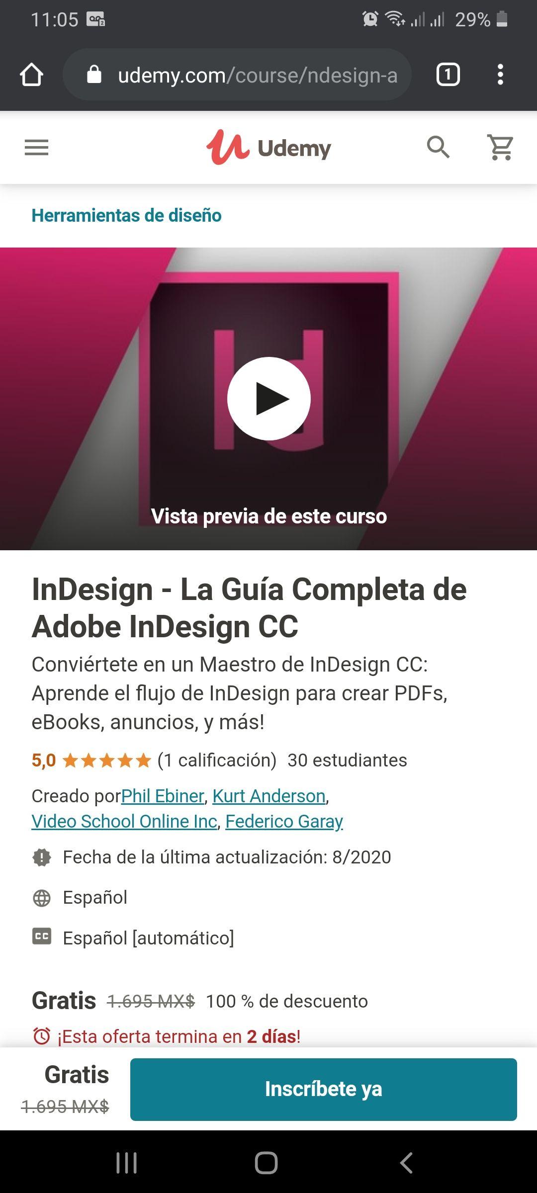 Udemy: InDesign - La Guía Completa de Adobe InDesign CC