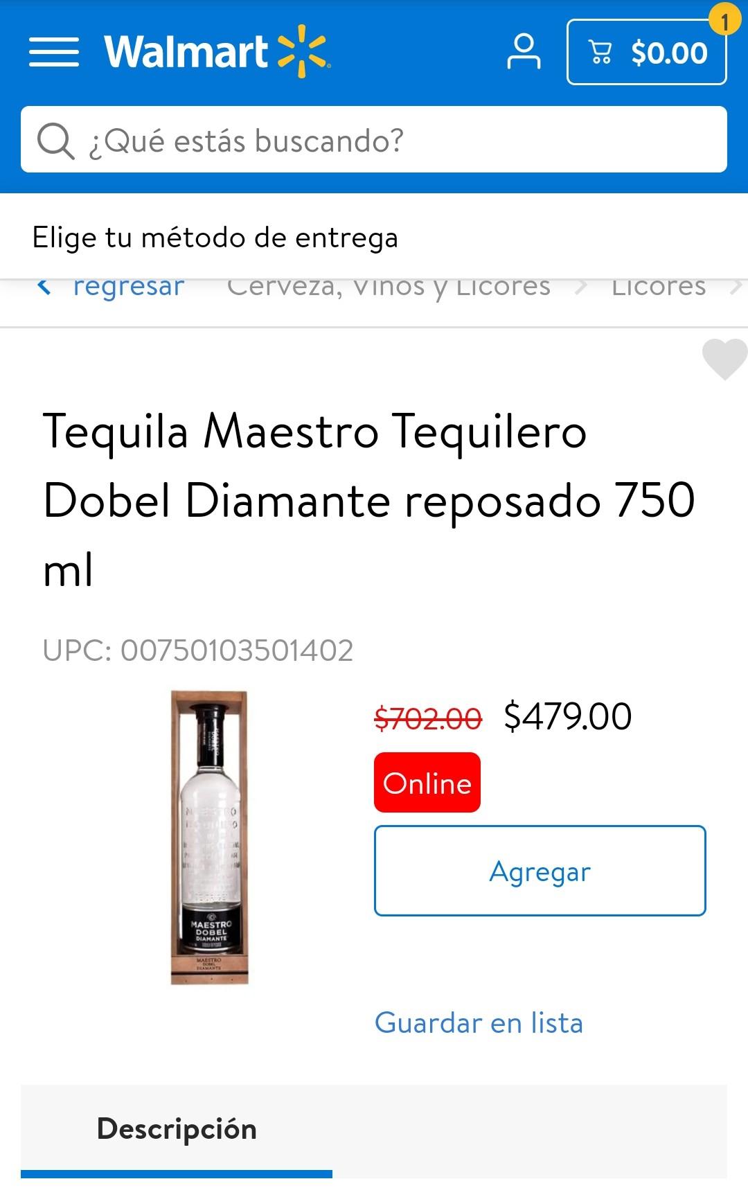 Tequila maestro dobel diamante - Walmart Online