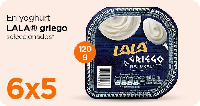 Chedraui: 6 x 5 en yoghurt Lala Griego 120 g.