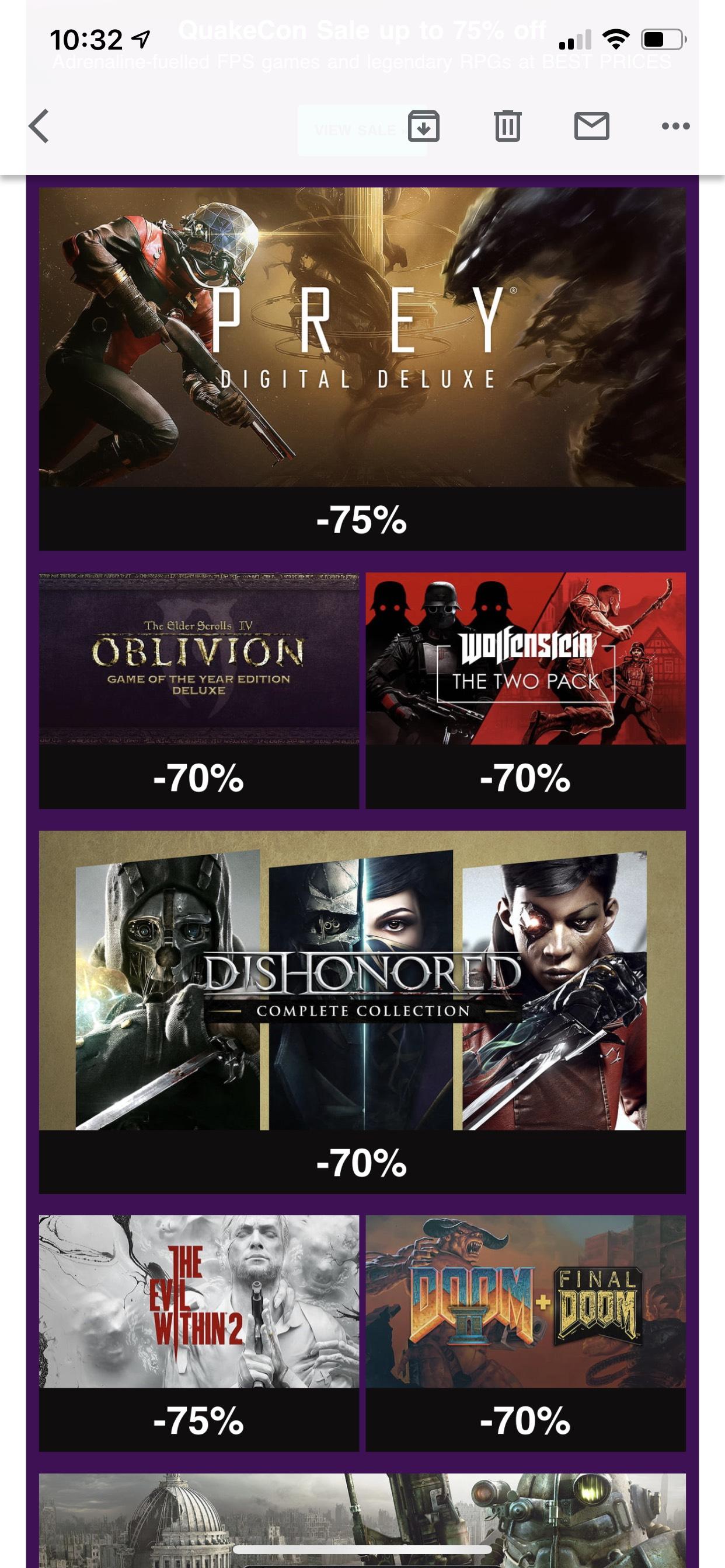 GOG (PC): QuakeCon Bethesda sale