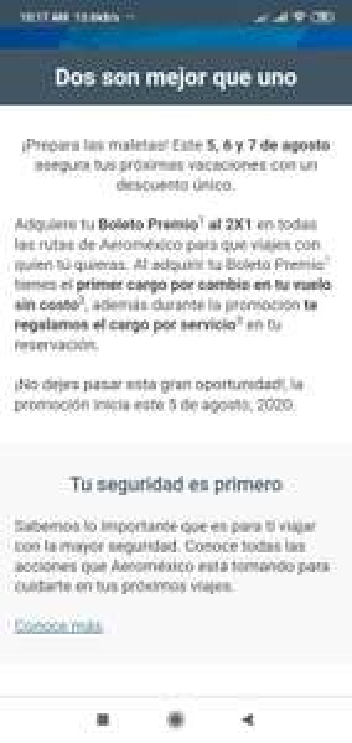 Club premier 2x1 boleto premio en todas las rutas de Aeroméxico