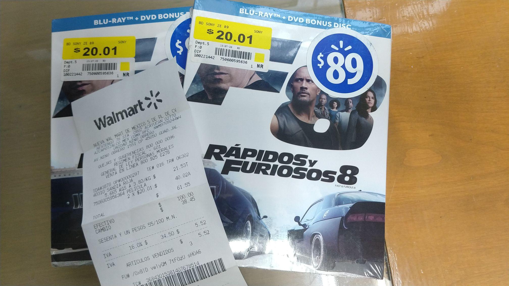 Walmart: Rápidos y Furiosos 8