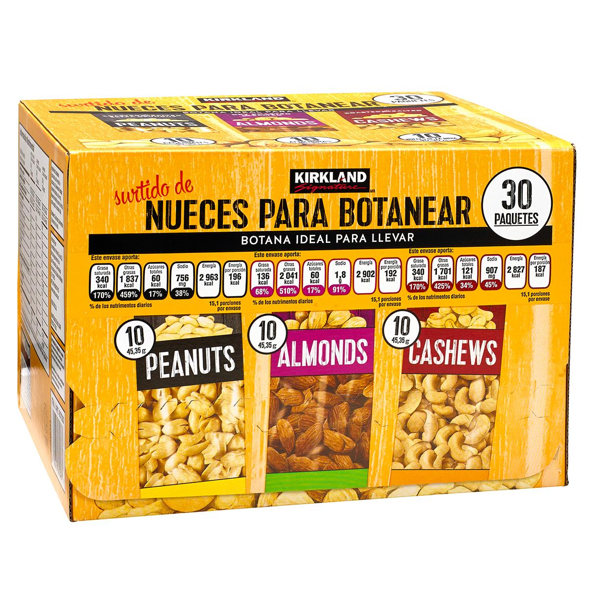Rappi y Costco: Caja de nueces 30 paquetes de 45gr