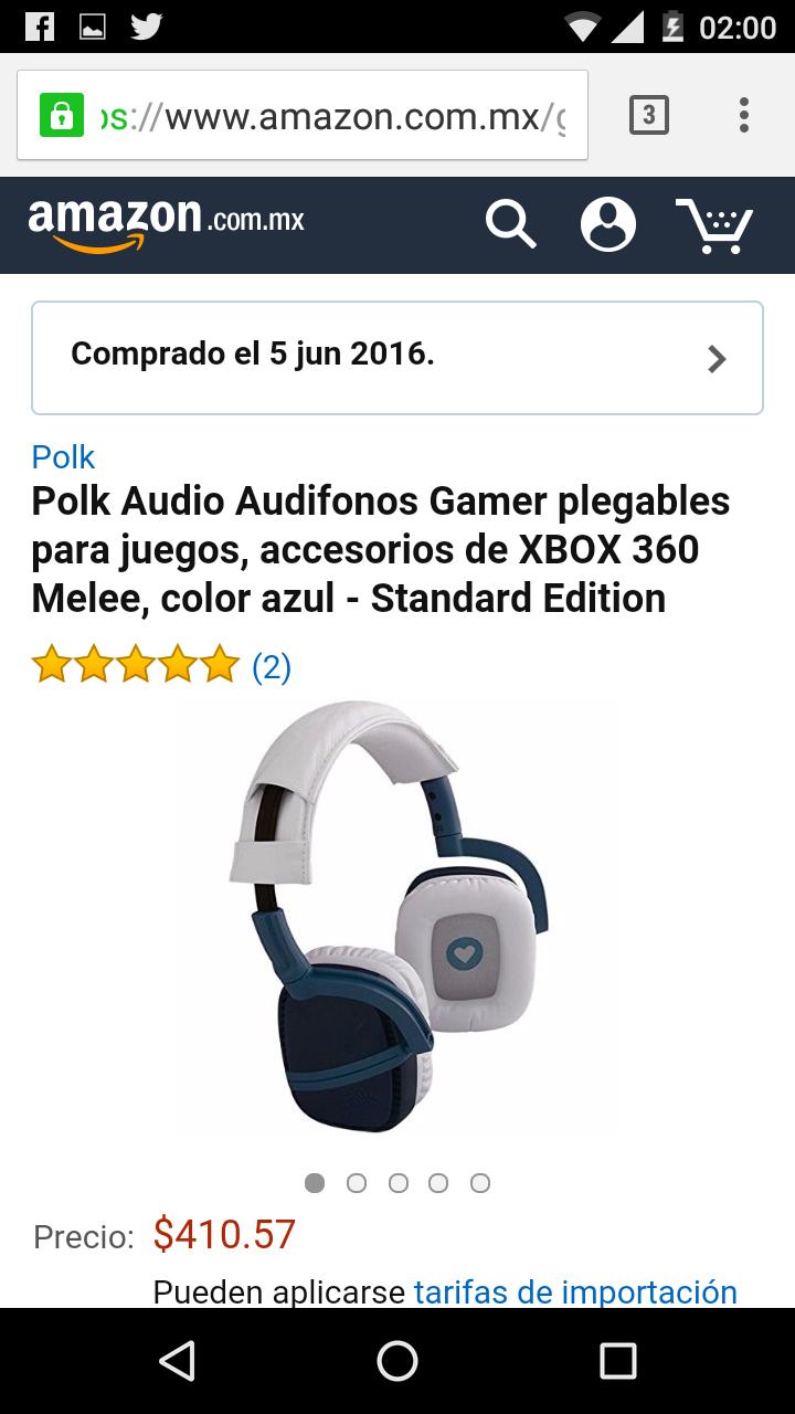 Amazon: Audífonos Gamer Polk Melee a $411