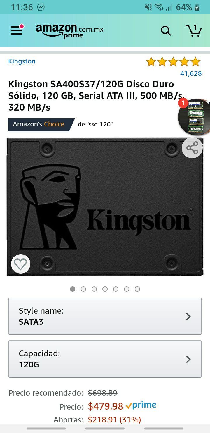 Amazon: 120 SSD Kingston