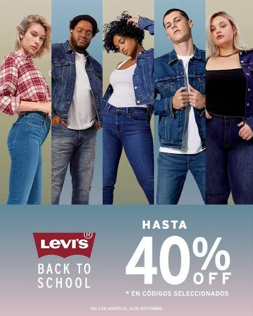 Levi's : Back to School 3x2 +6MSI o 40% de descuento en tiendas departamentales