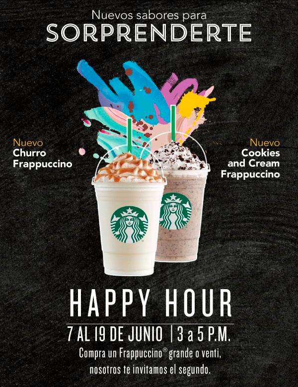 Starbucks: Happy Hour en Frappucchinos de 3pm a 5pm
