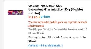 Amazon Gel Dental Colgate Kids Uvaventura 50g