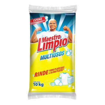 Sam's club:Detergente en Polvo Maestro Limpio 10 Kg (pagando con Inbursa)