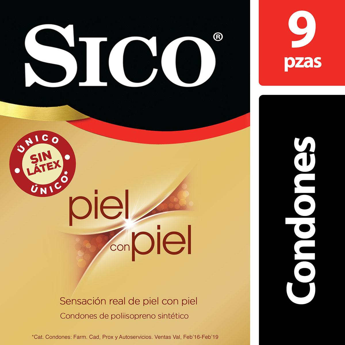 Amazon: Sico Piel con Piel Condones Sin Látex 9 Pzas.