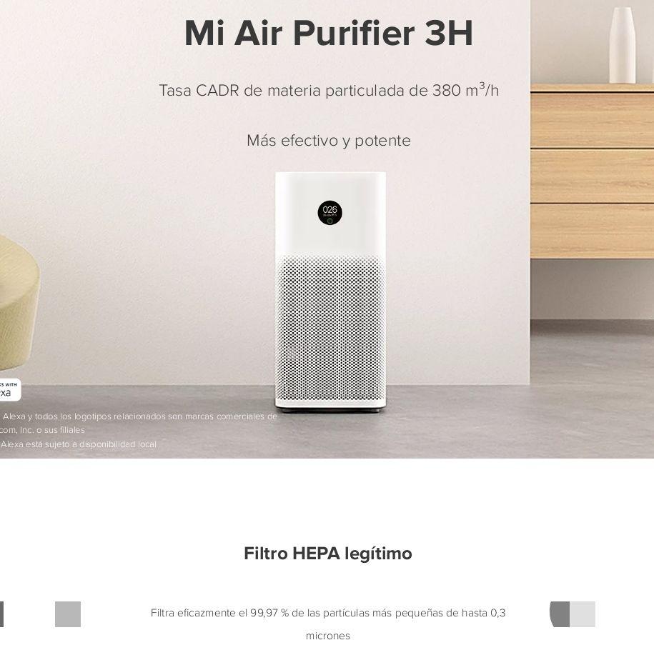 Amazon: Purificador de Aire Xiaomi con filtro Hepa H13 (útil para control de aerosoles)