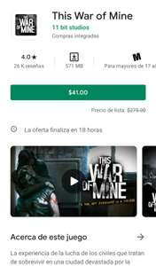 Google Play: This War of Mine (Android)