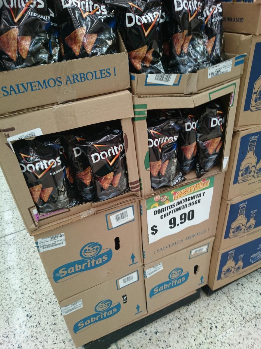 Bodega Aurrerá: Doritos Incognito 95grs. a $9.90