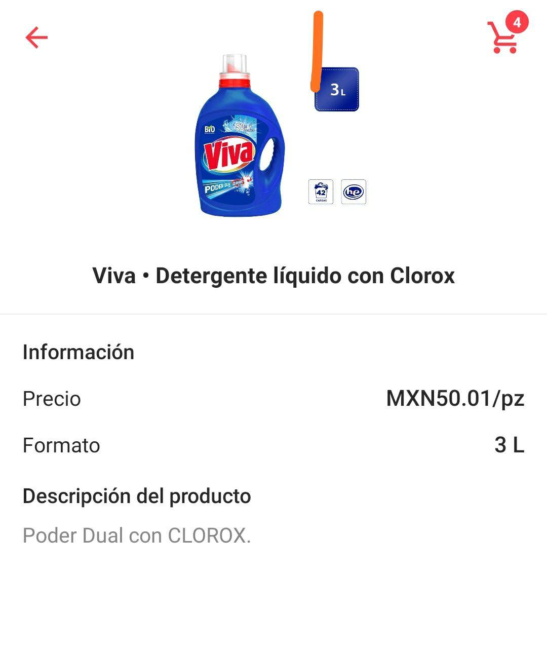 Cornershop chedraui detergente viva 3 litros y marías caja grande 2*1
