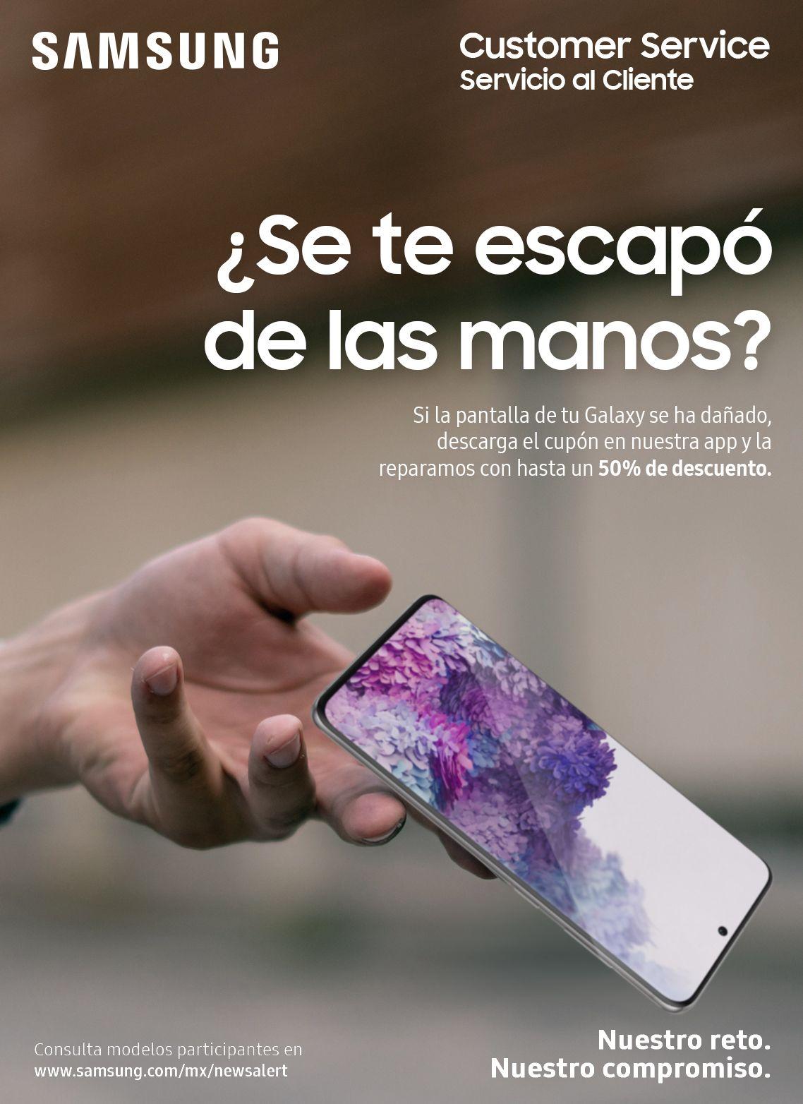 Samsung: Repara la pantalla o batería dañada de tu Galaxy con hasta 50% de descuento