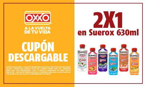 Oxxo: 2X1 en Suerox 630 ML y más cupones