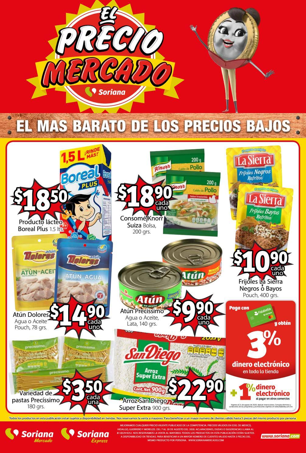 Soriana: Folleto Soriana Mercado 070820