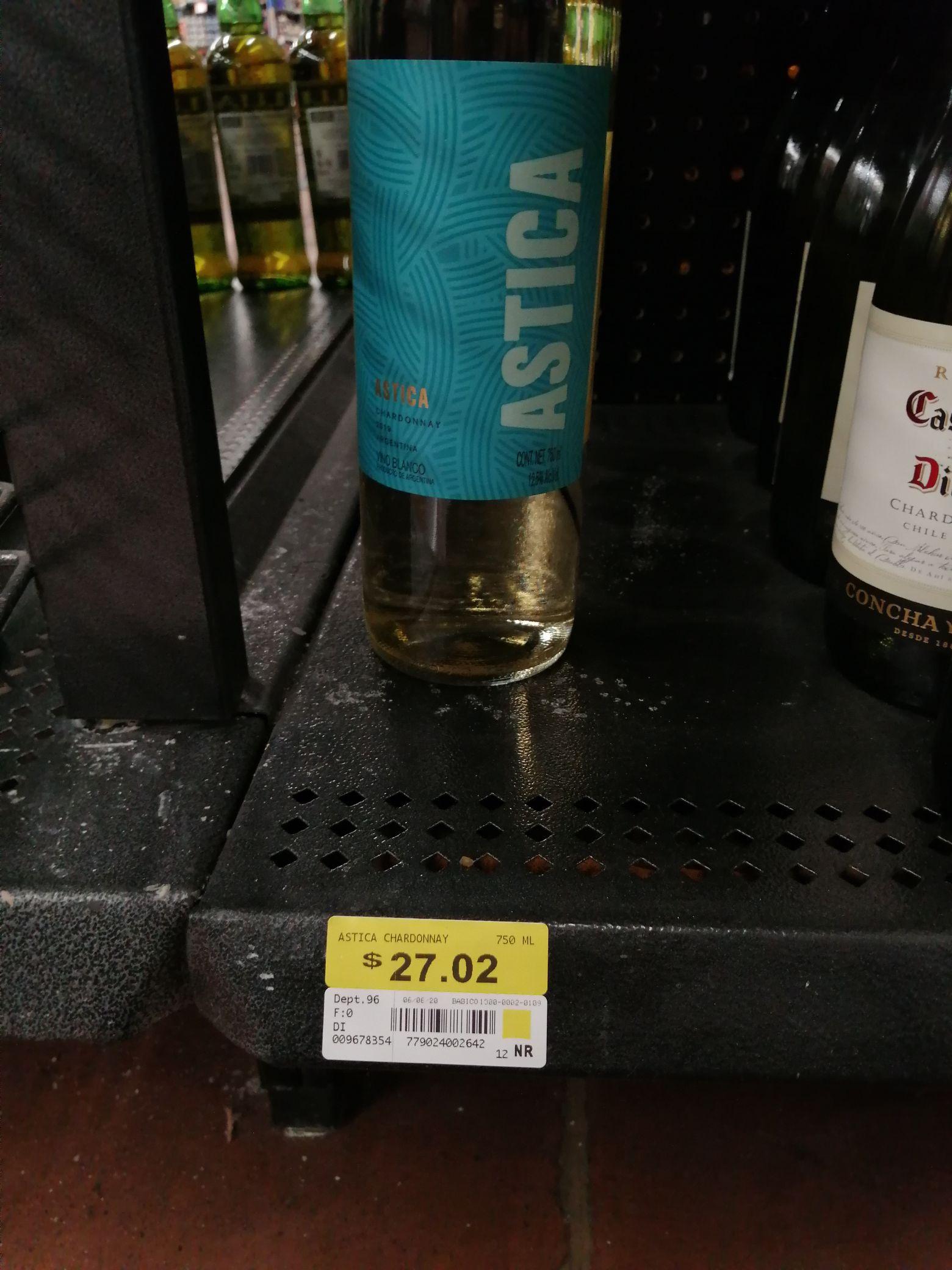 Walmart vino Astica, chardonnay
