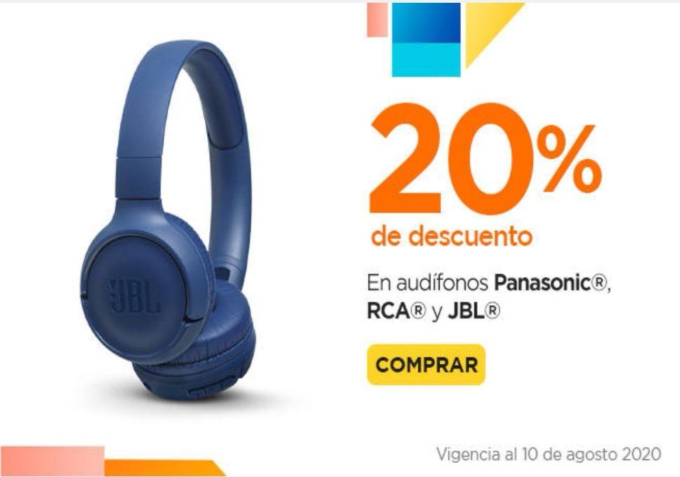 Chedraui: 20% de descuento en audífonos RCA, Panasonic, JBL y bocinas Logitech, Philips y Sony