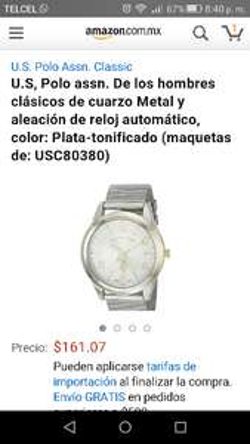 Amazon: reloj U.S, Polo assn a $169