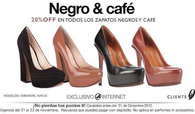 Nine West: 20% de descuento en modelos negro y café