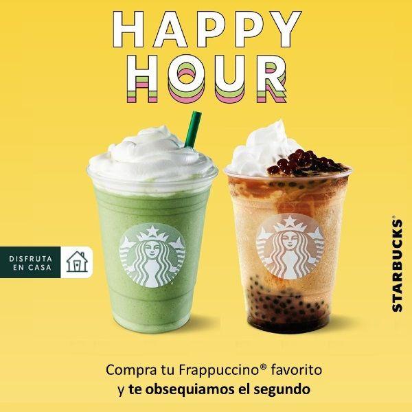 Starbucks: 2x1 en Frappuccinos Grande o Venti