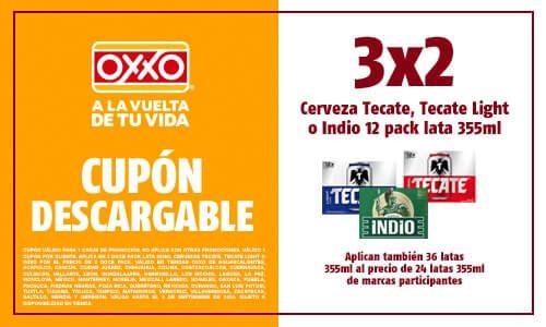 Oxxo: 3 X 2 Doce Pack (12) Tecate Lata 355 ml