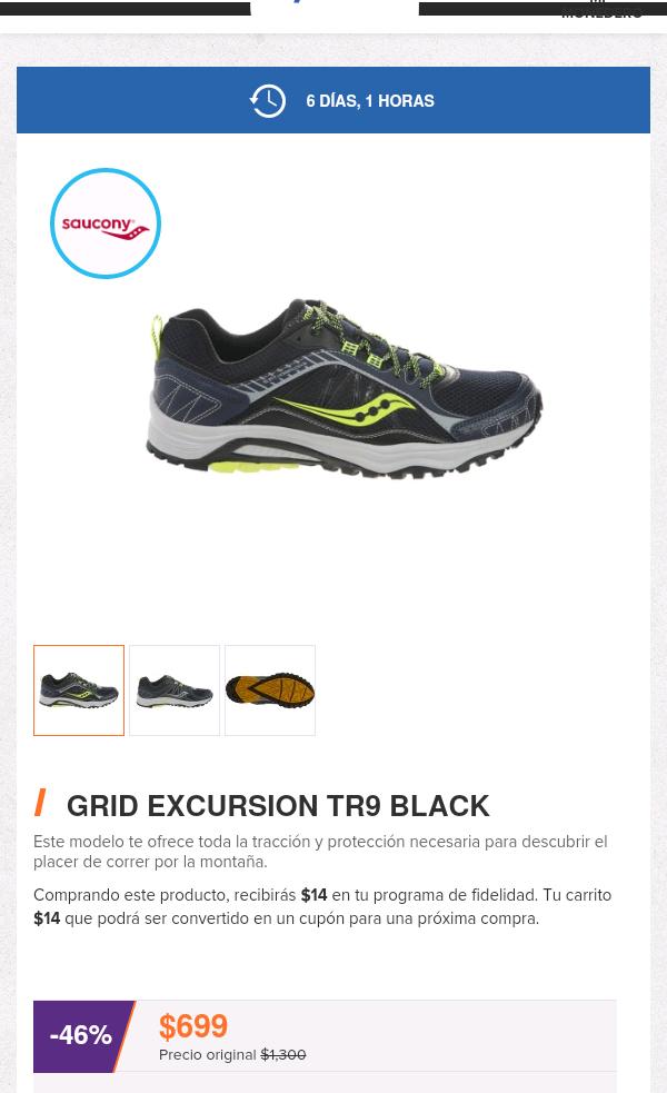 DeporPrivé: tenis Saucony Excursion TR9 a $699