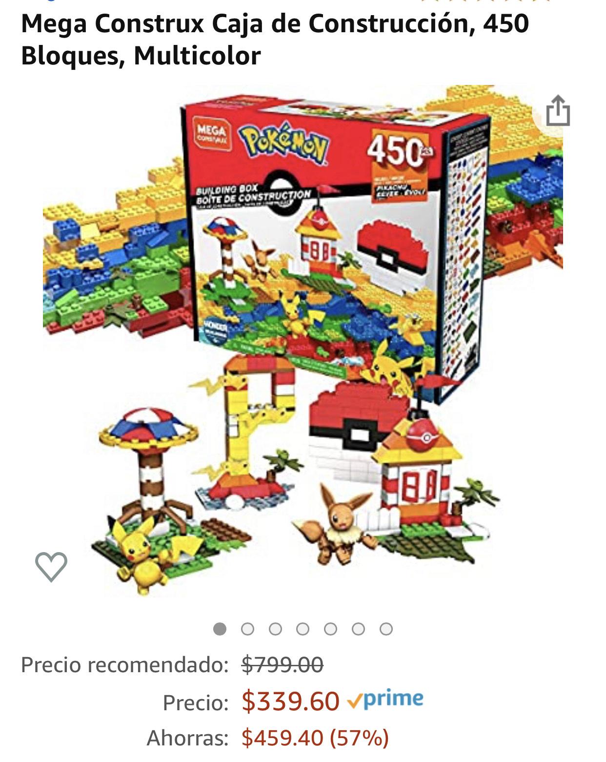 Amazonmx: Mega Construx Pokemon 450 piezas
