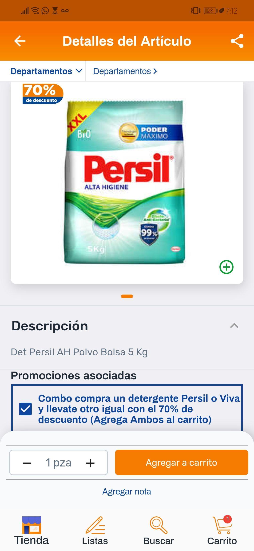 Chedraui: detergente persil alta higiene 2X$189