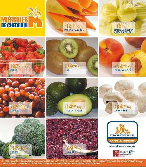 Miércoles de frutas y verduras Chedraui noviembre 21: plátano $2.50, piña $5.90 y más