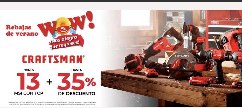 Sears: Hasta 35% de descuento en herramientas CRAFTSMAN