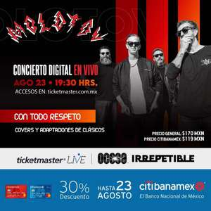 Ticketmaster: Streaming OCESA IRREPETIBLE