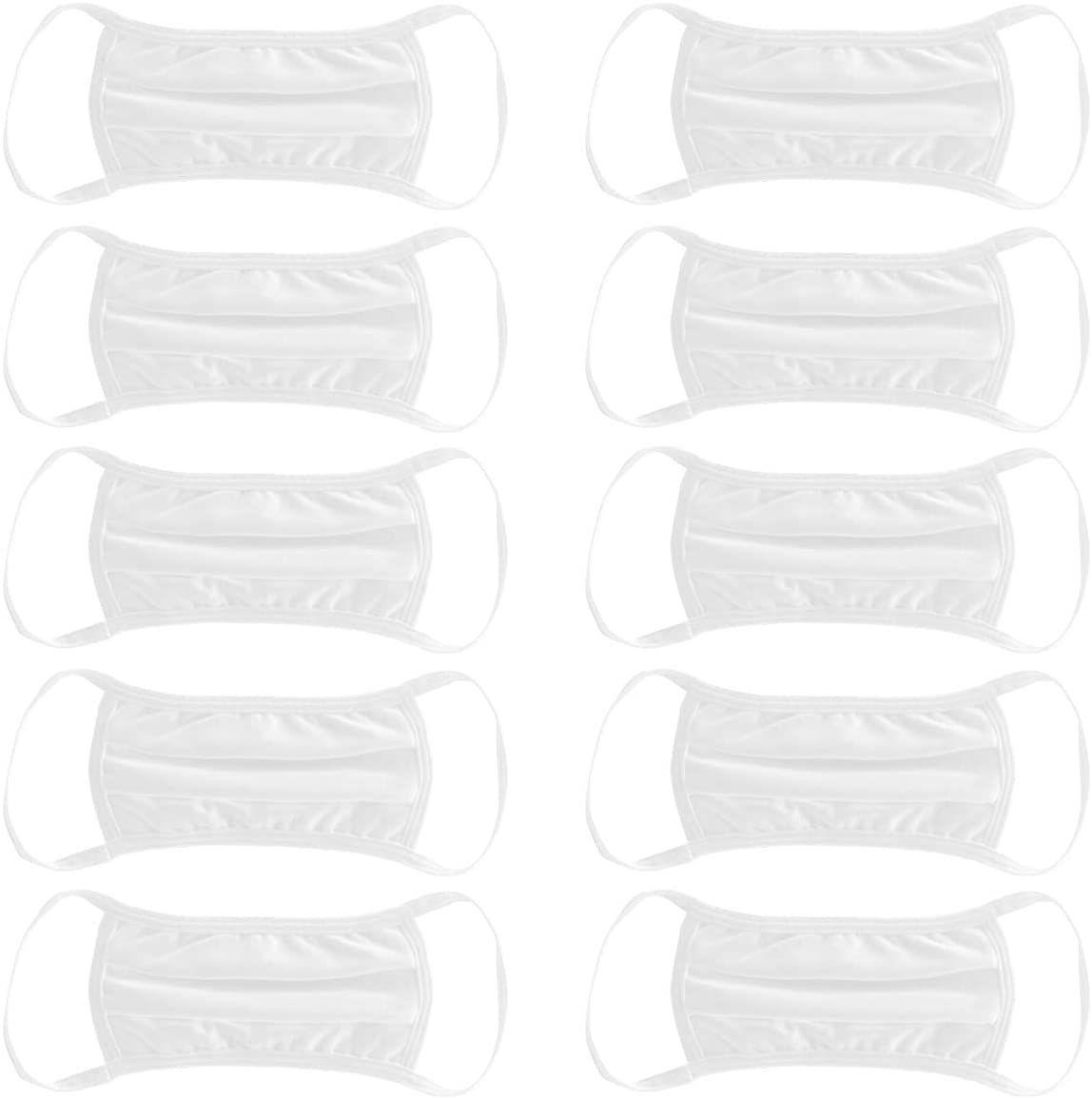 Amazon MX: Paquete de 10 cubrebocas Hanes (lavables y reutilizables)